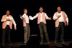 A quartet: Ray Minor as Dustin McDaniel, Joel Walsh as Mark Sanford, Zeek Martin as Elliot Spitzer and Rusty Turner as Anthony Weiner.