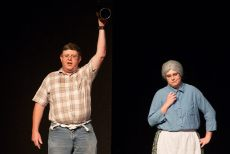 Wayne Tomlinson as Jethro and Sarah Warnock as Granny.