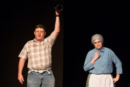 Wayne Tomlinson as Jethro and Sarah Warnock as Granny.