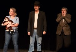 Olivia Jones as Ellie May, Steve Voorhies as Jed, and Debbie Miller as Miss Hathaway.