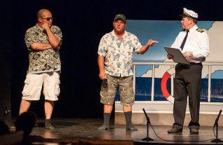 Aboard the LoveBoat at Lake Atalanta, Tony Hernandez, Flip Putthoff and Charlie Alison.
