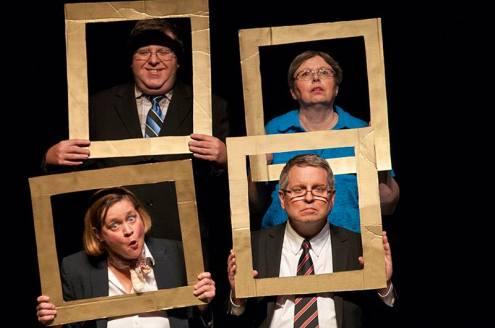 Talking heads, clockwise from top left, Wayne Tomlinson, Debbie Miller, David Spear and Gina King.