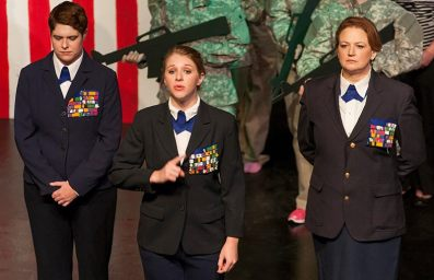 Sarah Warnock, Jocelyn Murphy and Stacey Roberts in the War on Women.