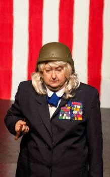 Katherine Shurlds as the commanding general, Hillary Clinton, in the War on Women.