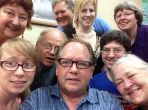 Riding the Selfie wave, the Gridiron writers pose for a Groupie.