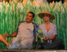 Mustapha Ajbaili and Natalia Pizarro in the cornfield.