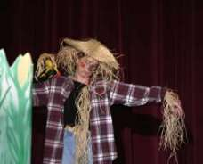 Donna Lonchar as the scarecrow.