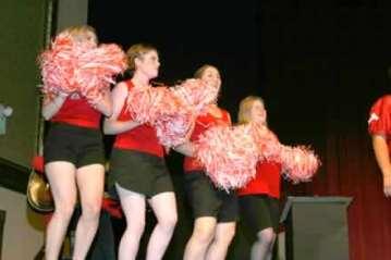 The Gridiron Cheerleaders.