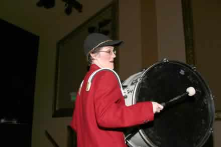 Sharla Bardin on drum.