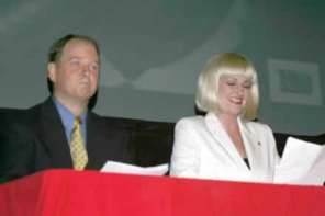 Charlie Alison and Amy Cochran, the Timely News Update anchors.