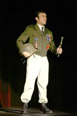 Richard Dean Prudenti as Mayor Steve Womack, returned from the war.