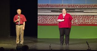 Sportscasters played by Dave Edmark and Britt Graves.