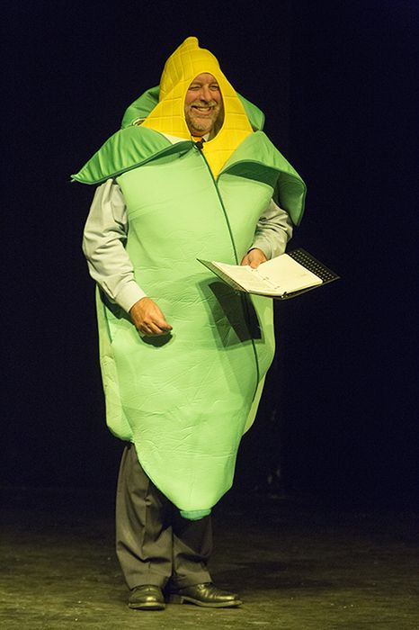 Kent Eikenbury as the master of ceremonies.