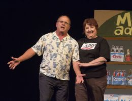 At Macadoodles, Flip Putthoff and Katherine Shurlds sing about medicinal marijuana.