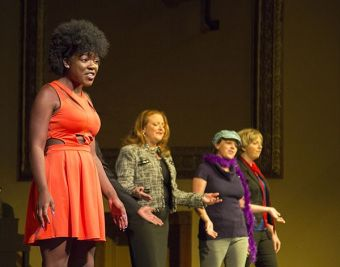 In a skit about the end of the Obama White House, Kristin Smith plays Michelle.