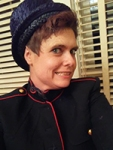 Portrait of Sarah Warnock in costume.