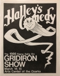Program cover for 1986 Gridiron Show