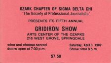 A ticke to the 1982 show.