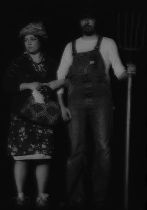 Brenda Blagg and Rusty Garrett as Letitia and Elmer Stufflebeam.