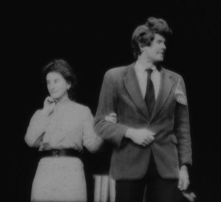 "Lisa Neal as Nancy Reagan and Mike Gauldin as Ron Reagan in ""The Teflon Man."""